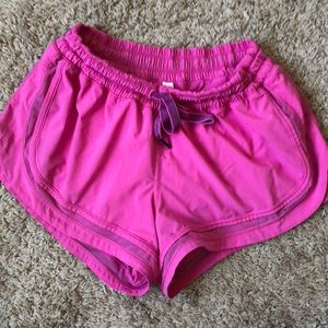 Lululemon Pink Running shorts size 8